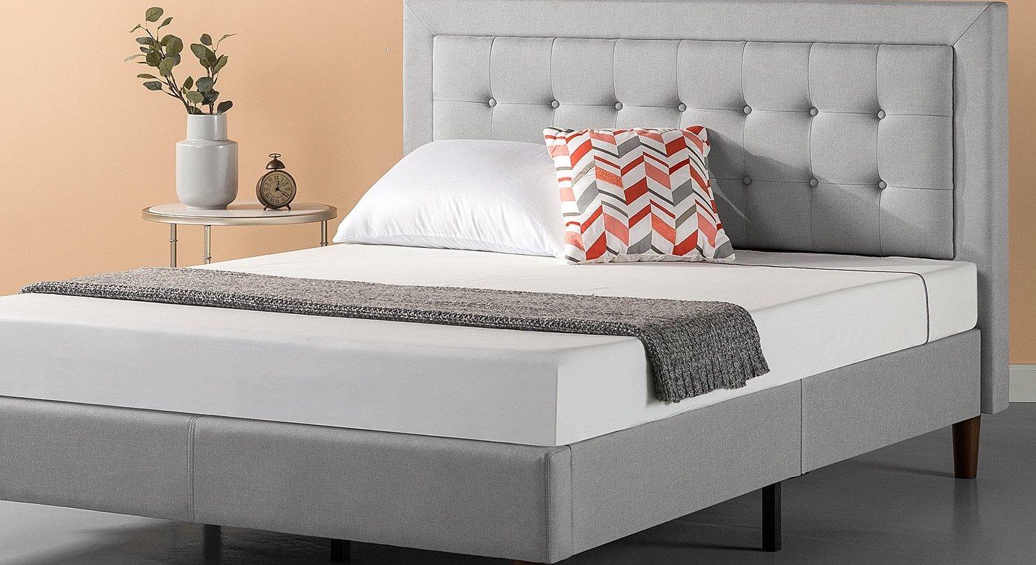 zinus mattress foundation platform bed set
