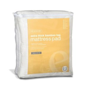 ELuxury Rayon From Bamboo Mattress Pad With Fitted Skirt